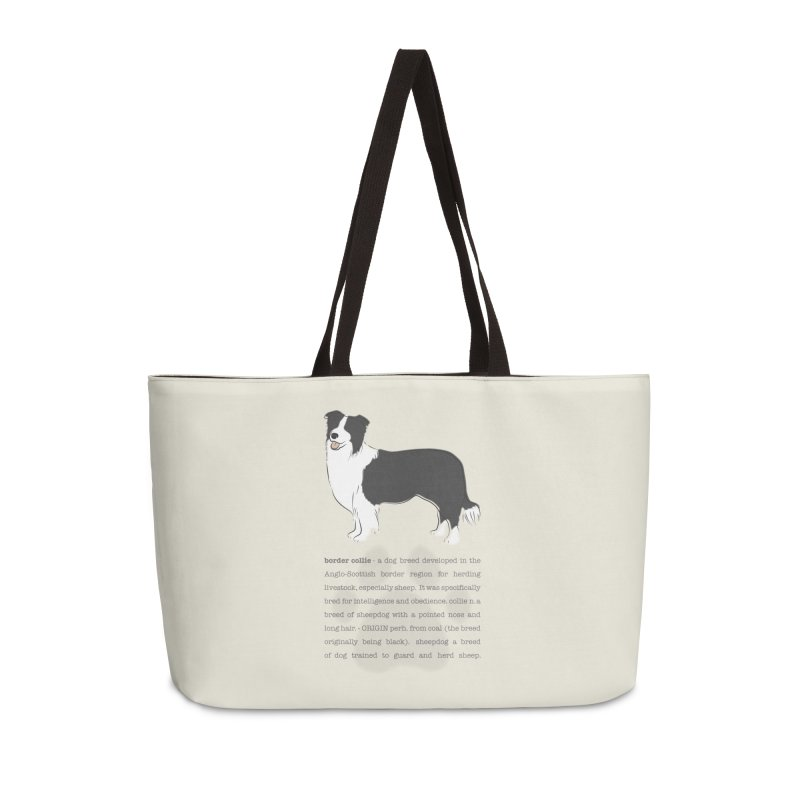 Border Collie 2 Accessories Weekender Bag Bag by grumpyteds's Artist Shop