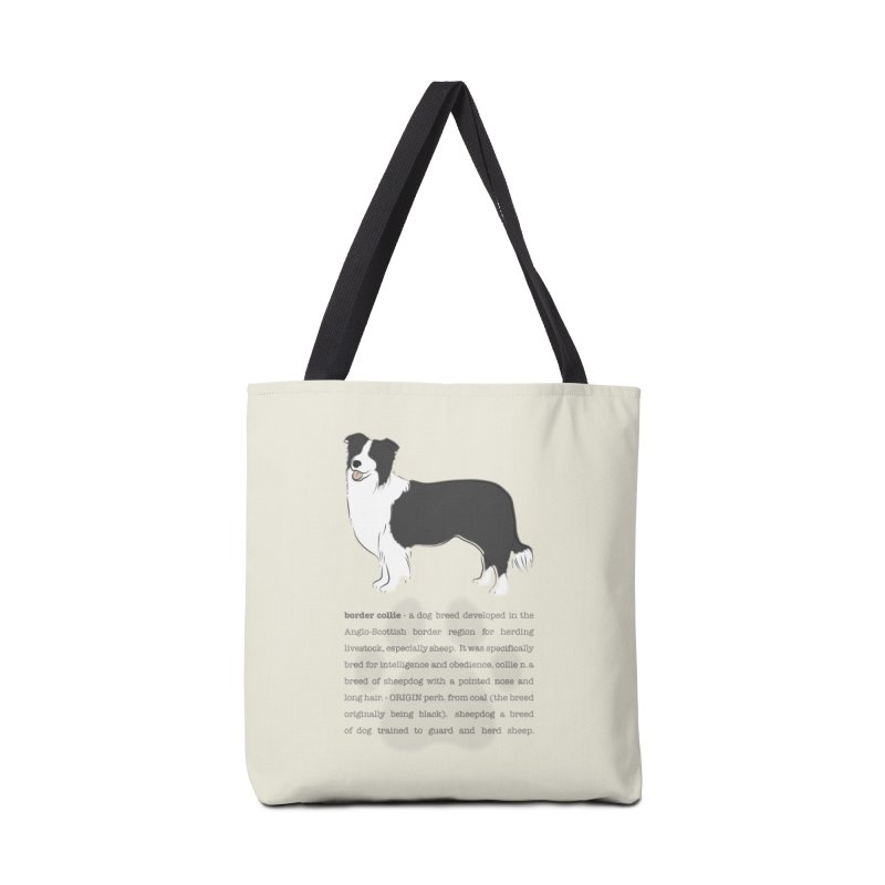 Border Collie 2 Accessories Tote Bag Bag by grumpyteds's Artist Shop