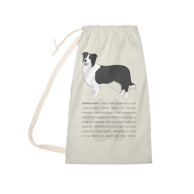 Border Collie 2 Accessories Bag by grumpyteds's Artist Shop