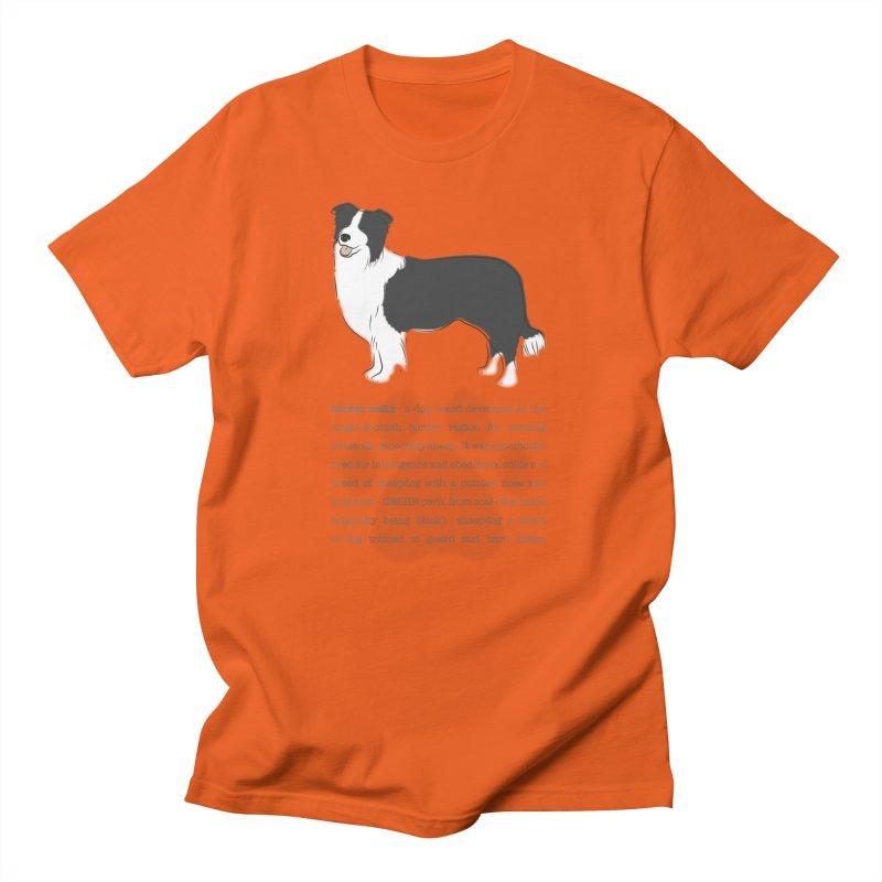Border Collie 2 Men's T-Shirt by grumpyteds's Artist Shop