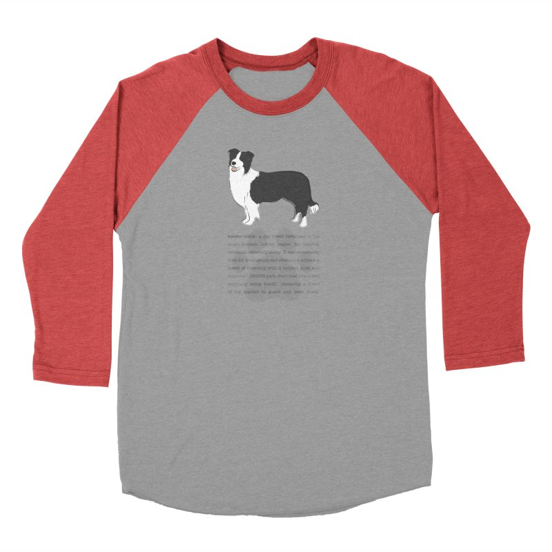 Border Collie 2 Men's Longsleeve T-Shirt by grumpyteds's Artist Shop