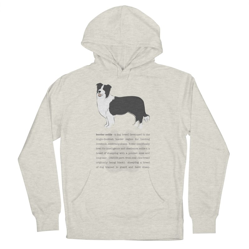 Border Collie 2 Women's French Terry Pullover Hoody by grumpyteds's Artist Shop