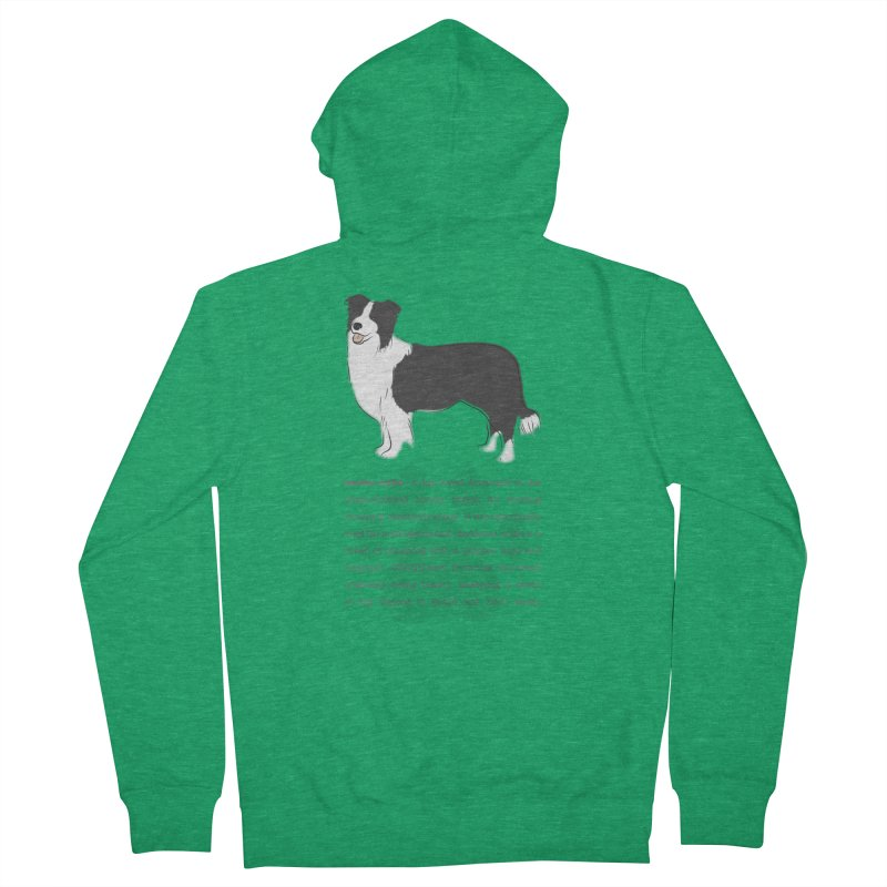 Border Collie 2 Women's Zip-Up Hoody by grumpyteds's Artist Shop