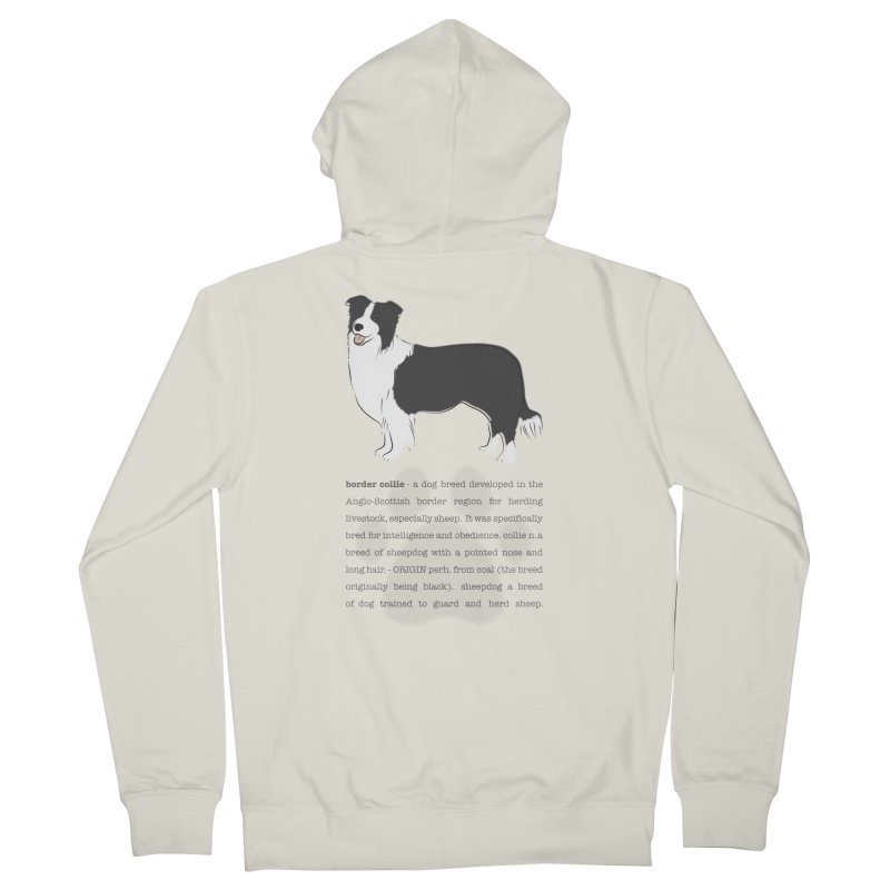 Border Collie 2 Women's French Terry Zip-Up Hoody by grumpyteds's Artist Shop