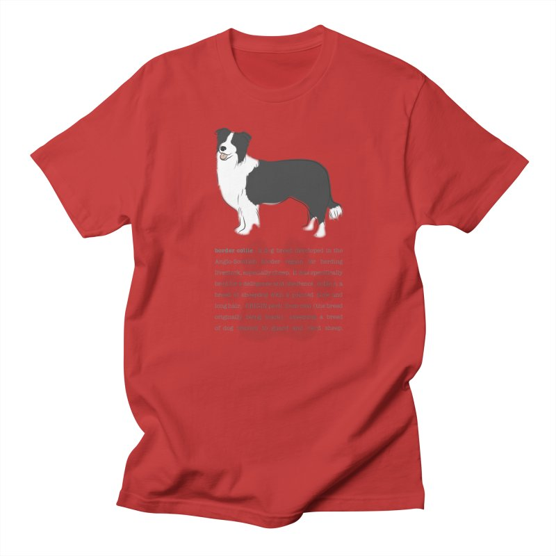 Border Collie 2 Men's Regular T-Shirt by grumpyteds's Artist Shop