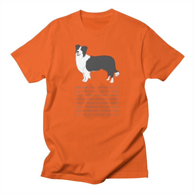 Border Collie 2 Men's T-Shirt by grumpyteds's Artist Shop