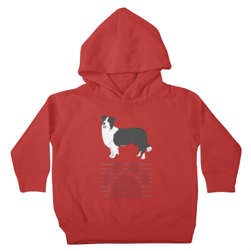 Border Collie 2 Kids Toddler Pullover Hoody by grumpyteds's Artist Shop