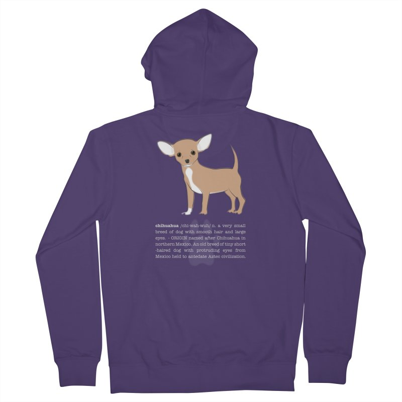 Chihuahua 1 Women's French Terry Zip-Up Hoody by grumpyteds's Artist Shop
