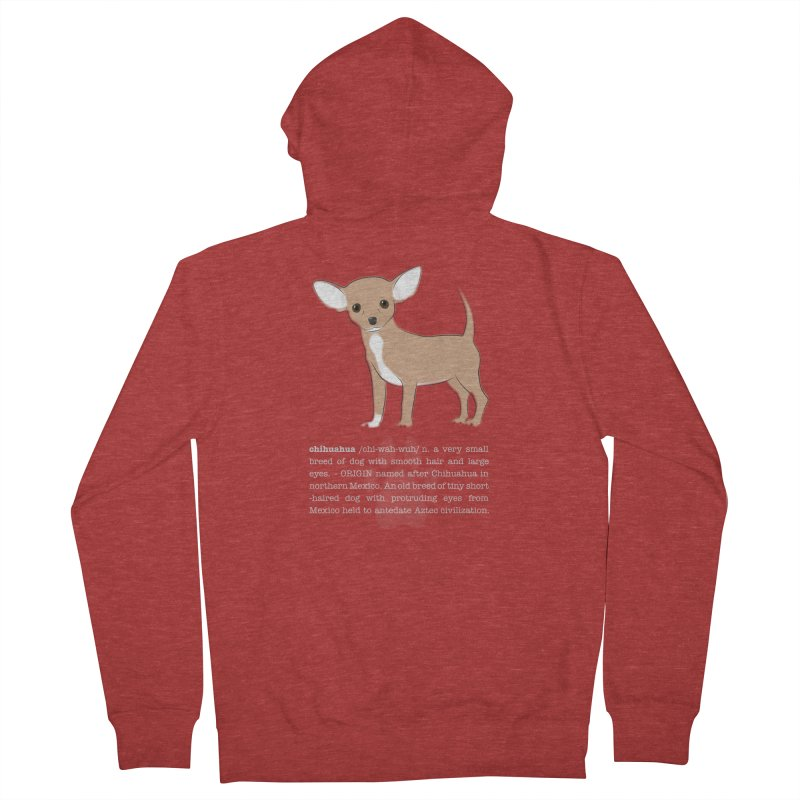 Chihuahua 1 Men's French Terry Zip-Up Hoody by grumpyteds's Artist Shop