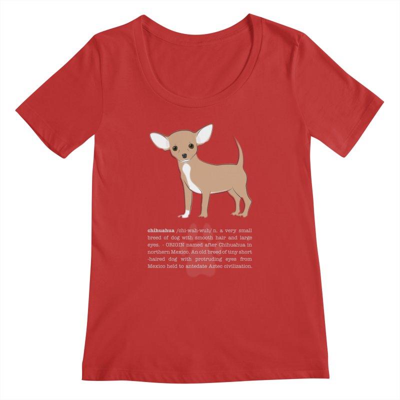 Chihuahua 1 Women's Regular Scoop Neck by grumpyteds's Artist Shop
