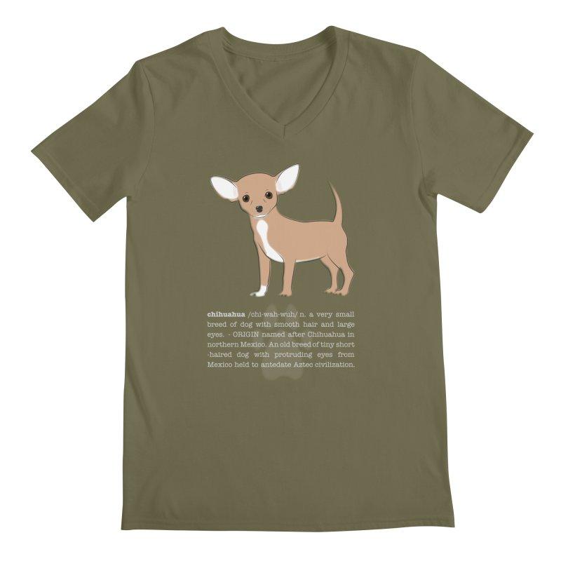 Chihuahua 1 Men's Regular V-Neck by grumpyteds's Artist Shop