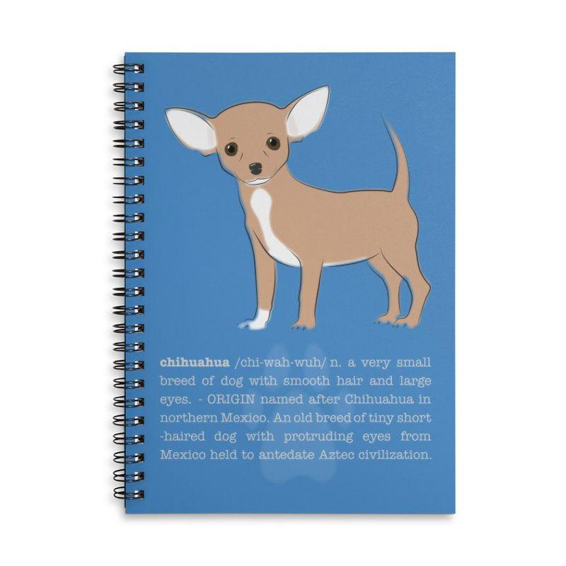 Chihuahua 1 Accessories Lined Spiral Notebook by grumpyteds's Artist Shop
