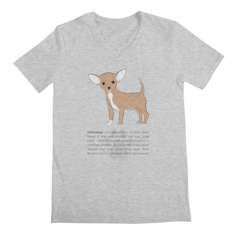 Chihuahua 2 Men's Regular V-Neck by grumpyteds's Artist Shop