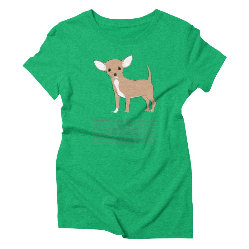 Chihuahua 2 Women's Triblend T-Shirt by grumpyteds's Artist Shop