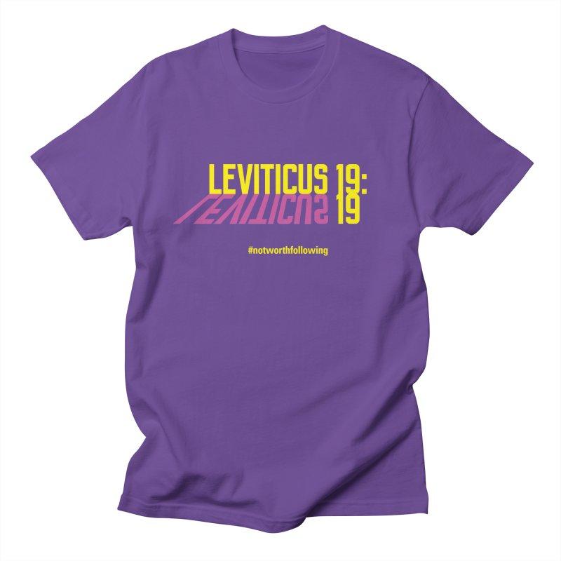 Leviticus 19:19 Men's Regular T-Shirt by grundy's Artist Shop