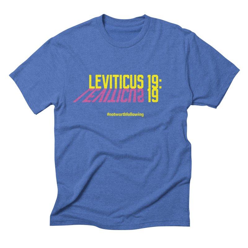 Leviticus 19:19 Men's Triblend T-Shirt by grundy's Artist Shop