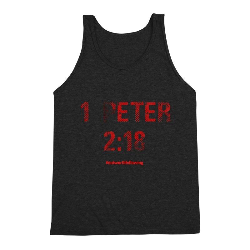 1 Peter 2:18 Men's Triblend Tank by grundy's Artist Shop