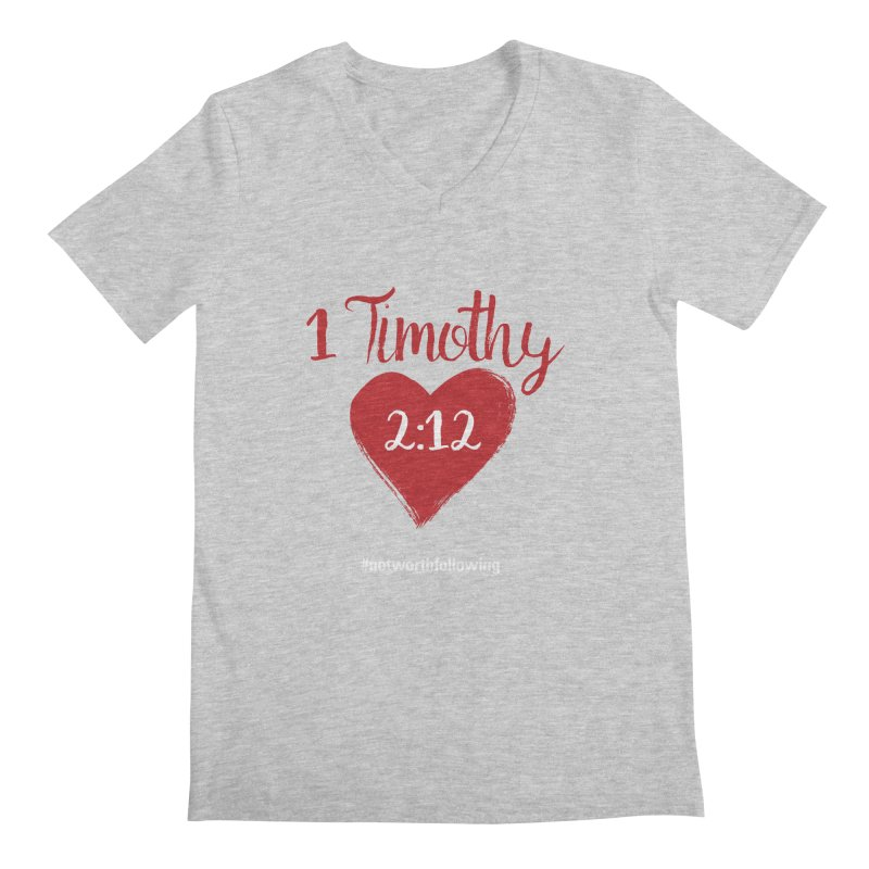 1 Timothy 2:12 Men's V-Neck by grundy's Artist Shop
