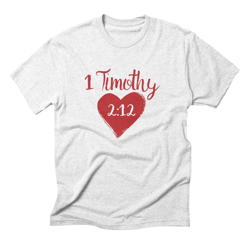 1 Timothy 2:12 Men's Triblend T-shirt by grundy's Artist Shop
