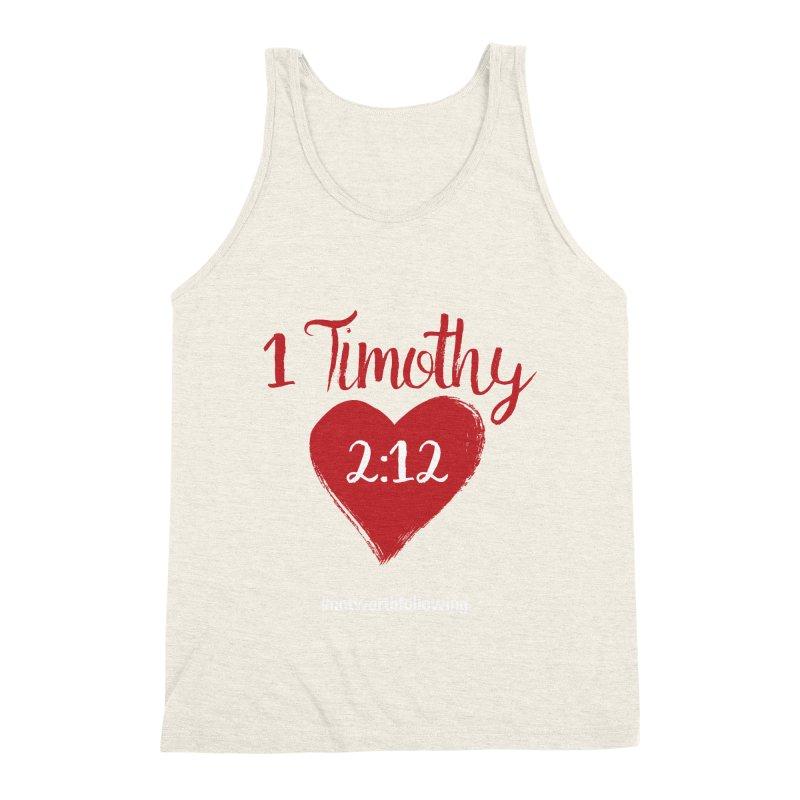 1 Timothy 2:12 Men's Triblend Tank by grundy's Artist Shop
