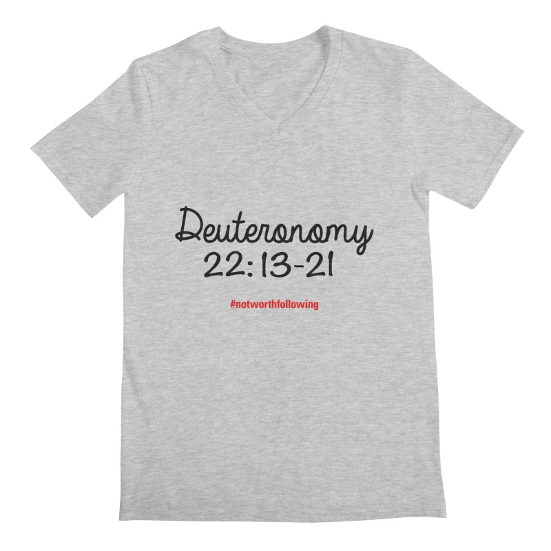 Deuteronomy 22: 13-21 Men's V-Neck by grundy's Artist Shop