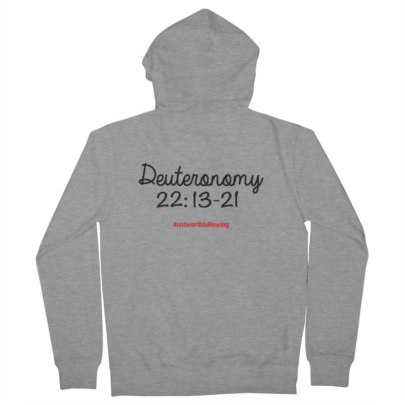 Deuteronomy 22: 13-21 Men's French Terry Zip-Up Hoody by grundy's Artist Shop