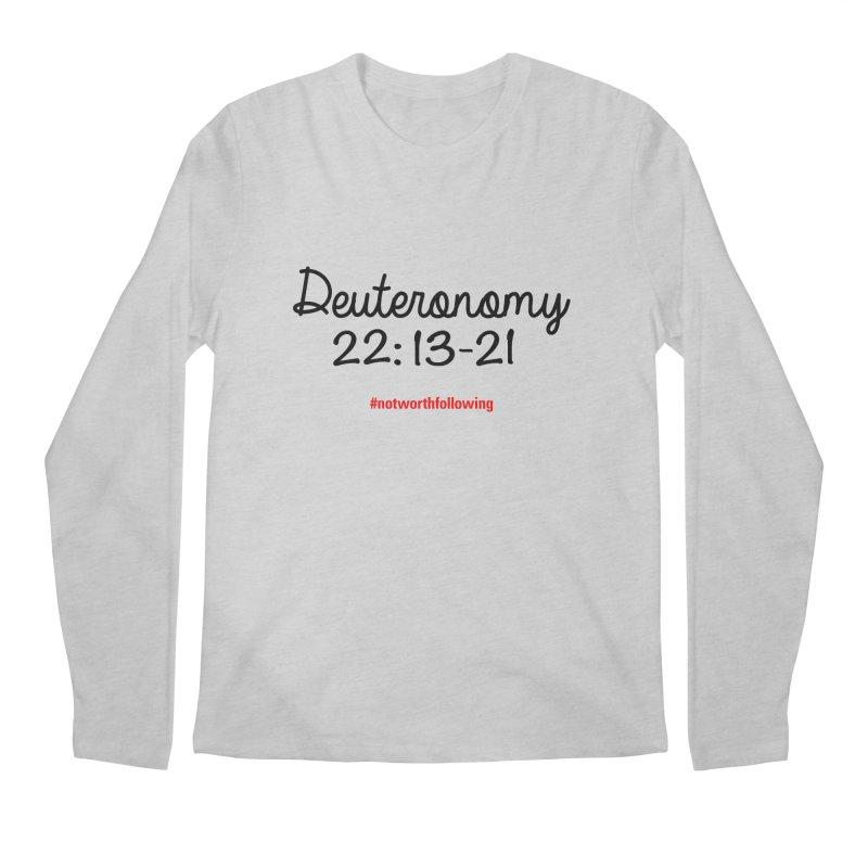 Deuteronomy 22: 13-21 Men's Longsleeve T-Shirt by grundy's Artist Shop