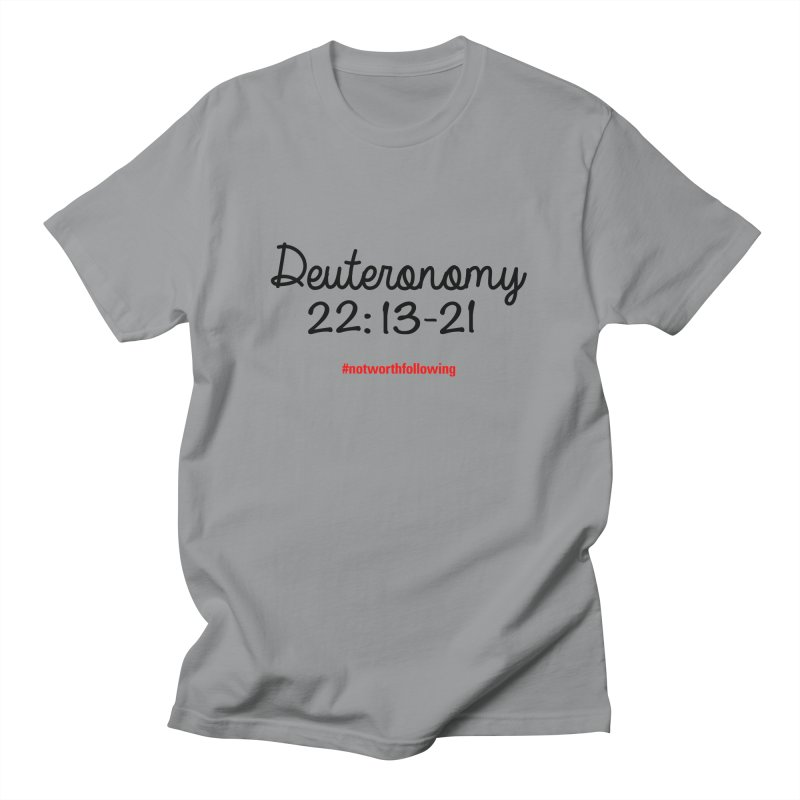 Deuteronomy 22: 13-21 Men's Regular T-Shirt by grundy's Artist Shop