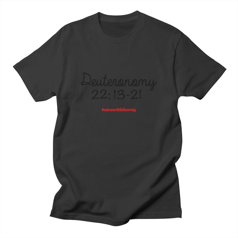 Deuteronomy 22: 13-21 Men's T-shirt by grundy's Artist Shop