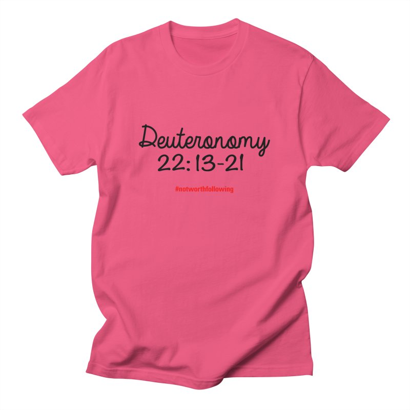 Deuteronomy 22: 13-21 Men's Regular T-Shirt by grundy's Artist Shop