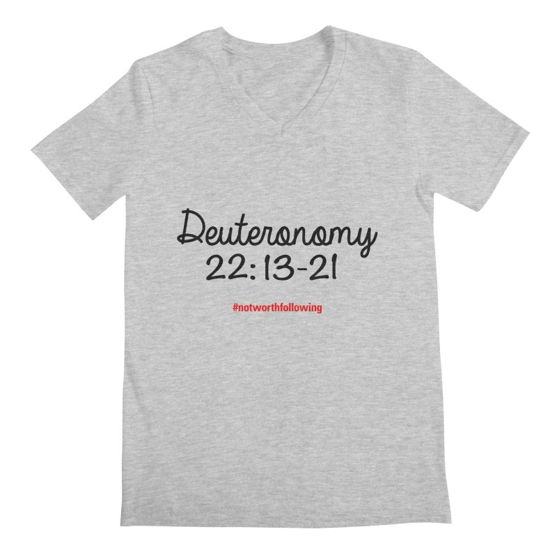 Deuteronomy 22: 13-21 Men's V-Neck by grundy's Artist Shop