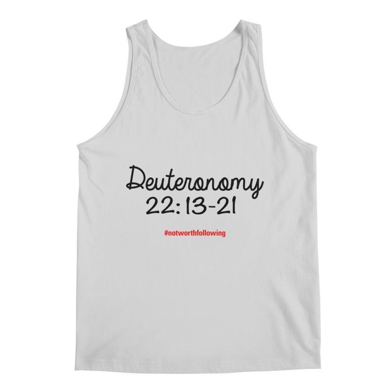 Deuteronomy 22: 13-21 Men's Tank by grundy's Artist Shop