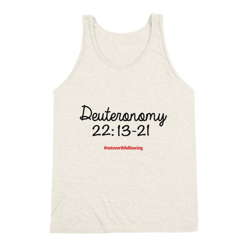 Deuteronomy 22: 13-21 Men's Triblend Tank by grundy's Artist Shop