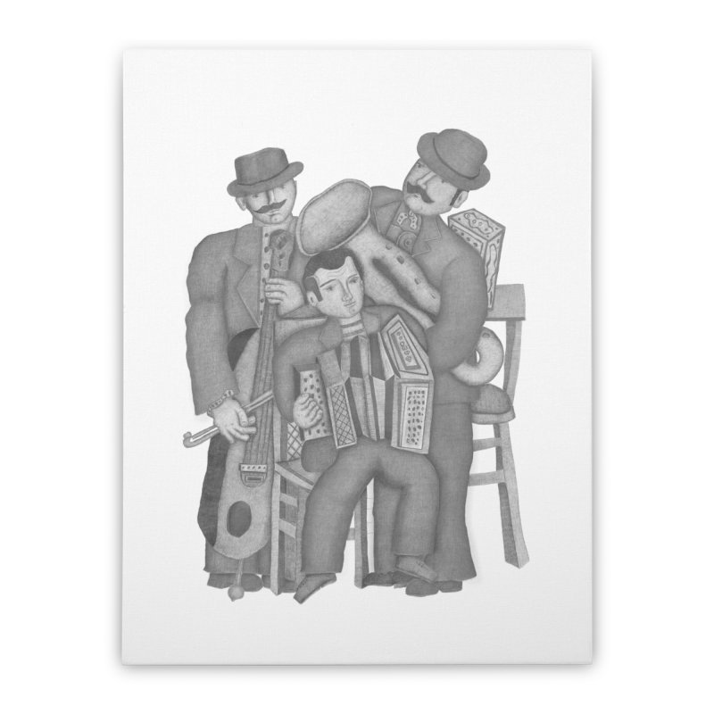 Musical orchestra Home Stretched Canvas by gruv7's Artist Shop