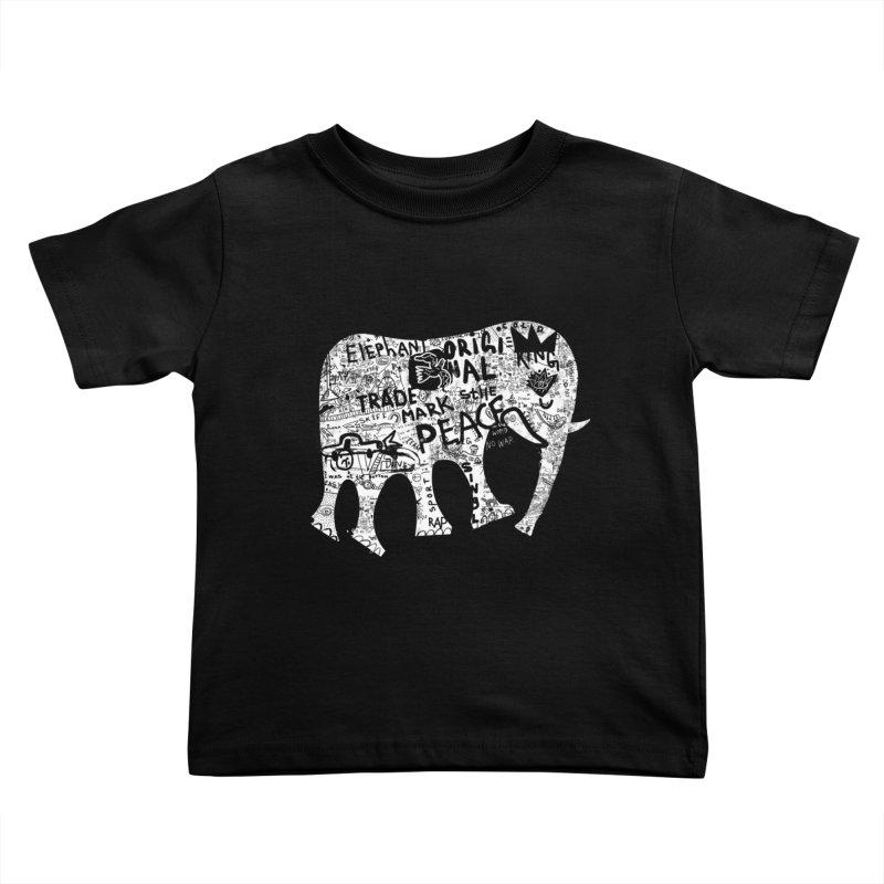 Elephant Kids Toddler T-Shirt by gruv7's Artist Shop