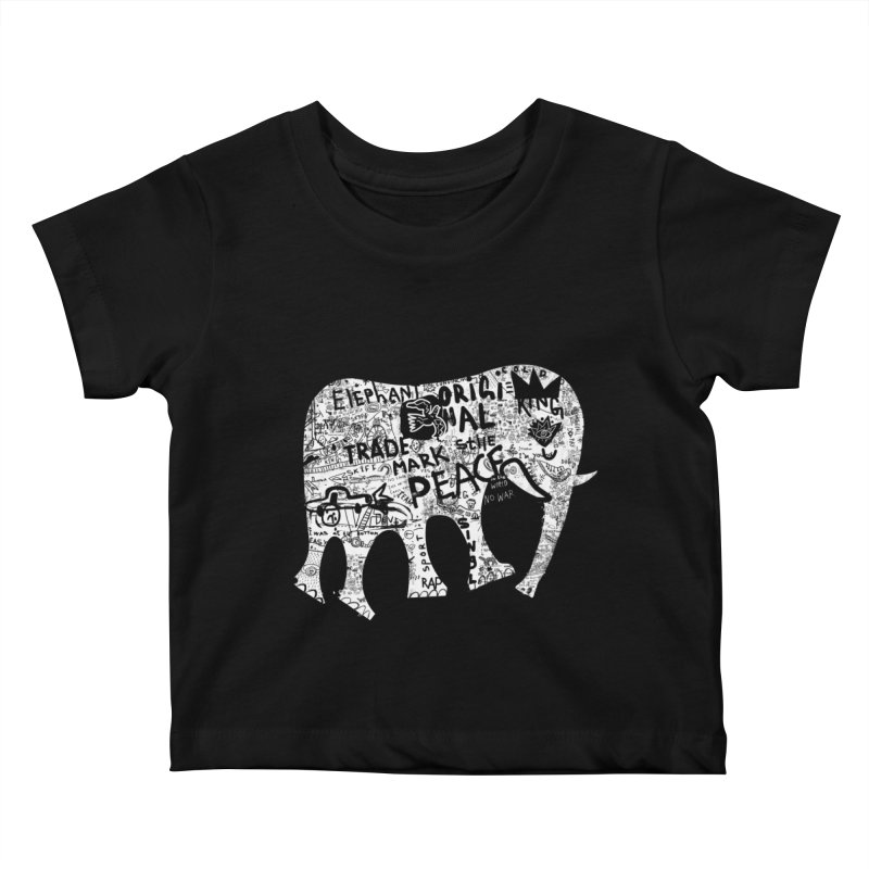 Elephant Kids Baby T-Shirt by gruv7's Artist Shop