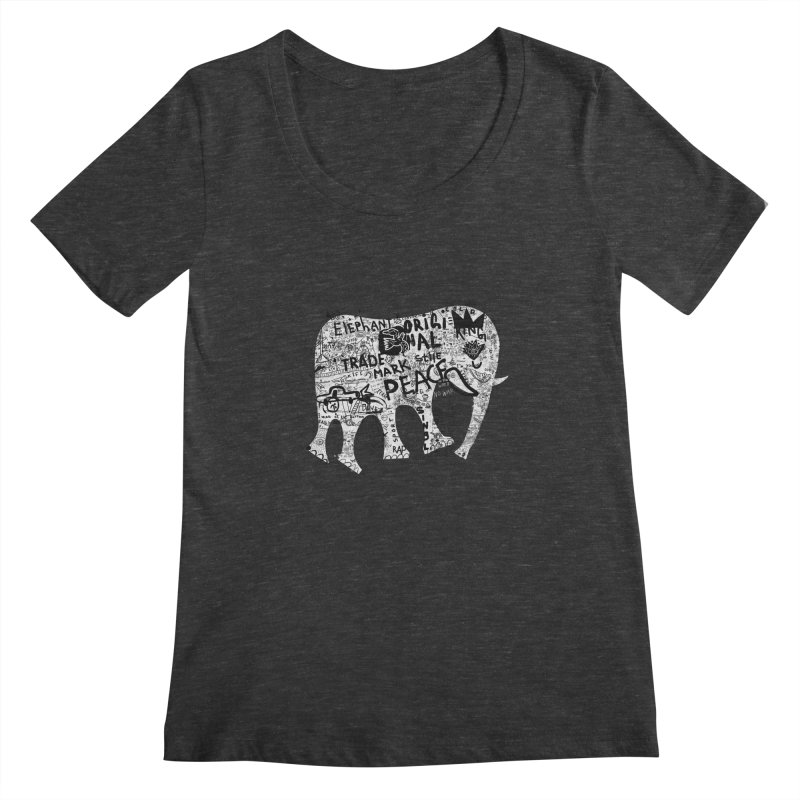 Elephant Women's Scoopneck by gruv7's Artist Shop