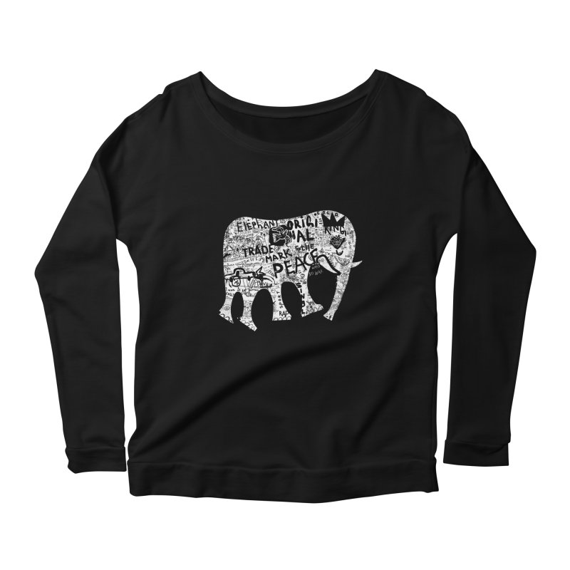 Elephant Women's Longsleeve Scoopneck  by gruv7's Artist Shop