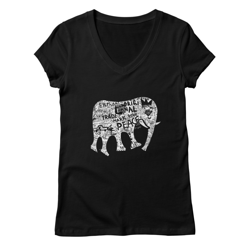 Elephant Women's V-Neck by gruv7's Artist Shop