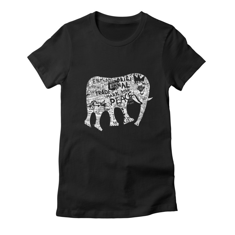 Elephant Women's Fitted T-Shirt by gruv7's Artist Shop