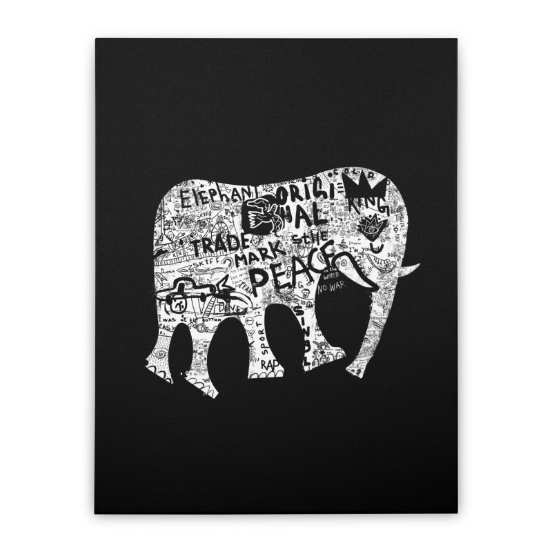 Elephant Home Stretched Canvas by gruv7's Artist Shop