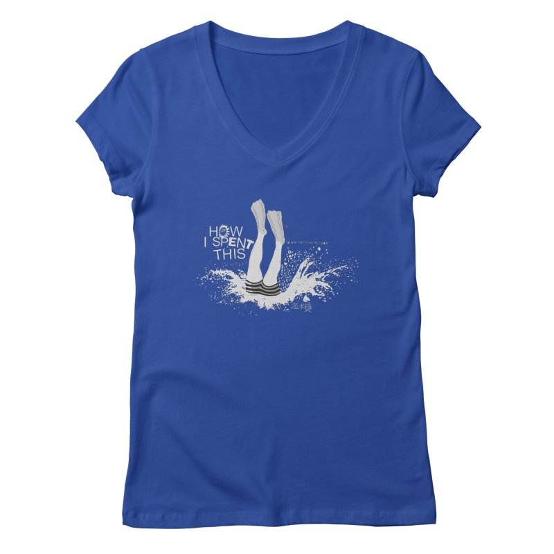 "Diver (Translated from the Chinese - "" diver "") Women's V-Neck by gruv7's Artist Shop"
