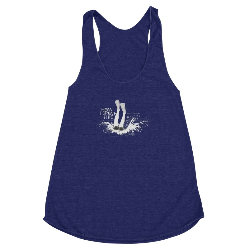 "Diver (Translated from the Chinese - "" diver "") Women's Racerback Triblend Tank by gruv7's Artist Shop"