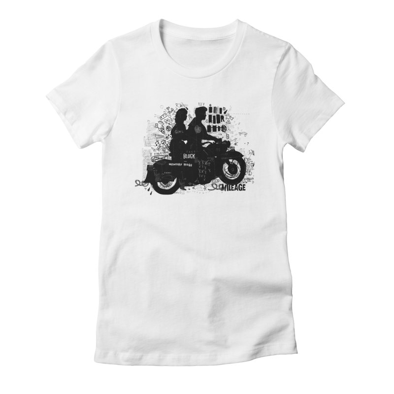 Motorcycle Women's Fitted T-Shirt by gruv7's Artist Shop