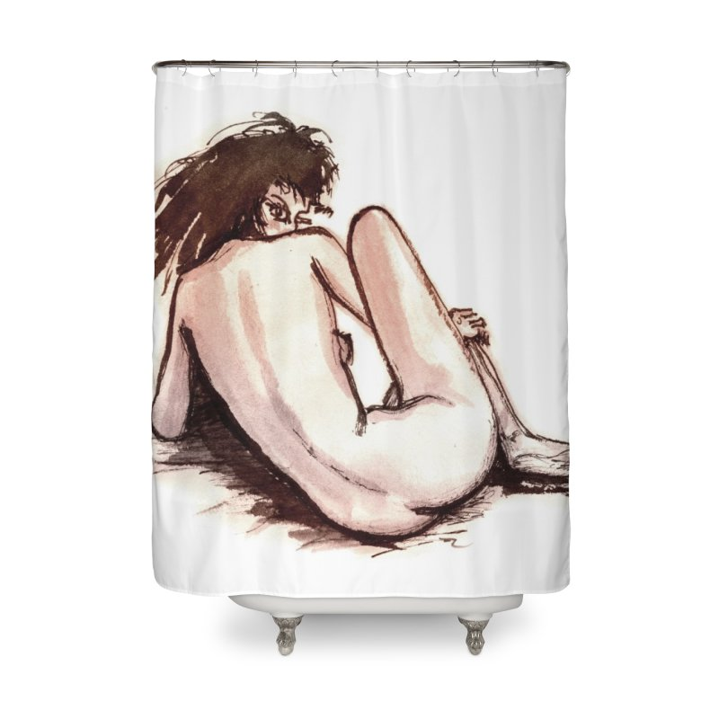 The Lookback Home Shower Curtain by grzechotnick's Artist Shop