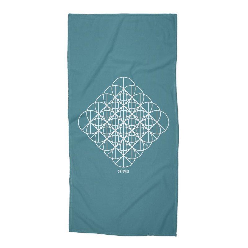 25 Peaces Accessories Beach Towel by grzechotnick's Artist Shop