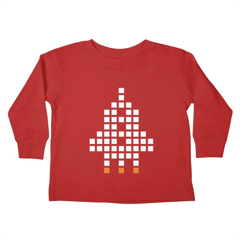 53 Squares in Kids Toddler Longsleeve T-Shirt Red by grzechotnick's Artist Shop
