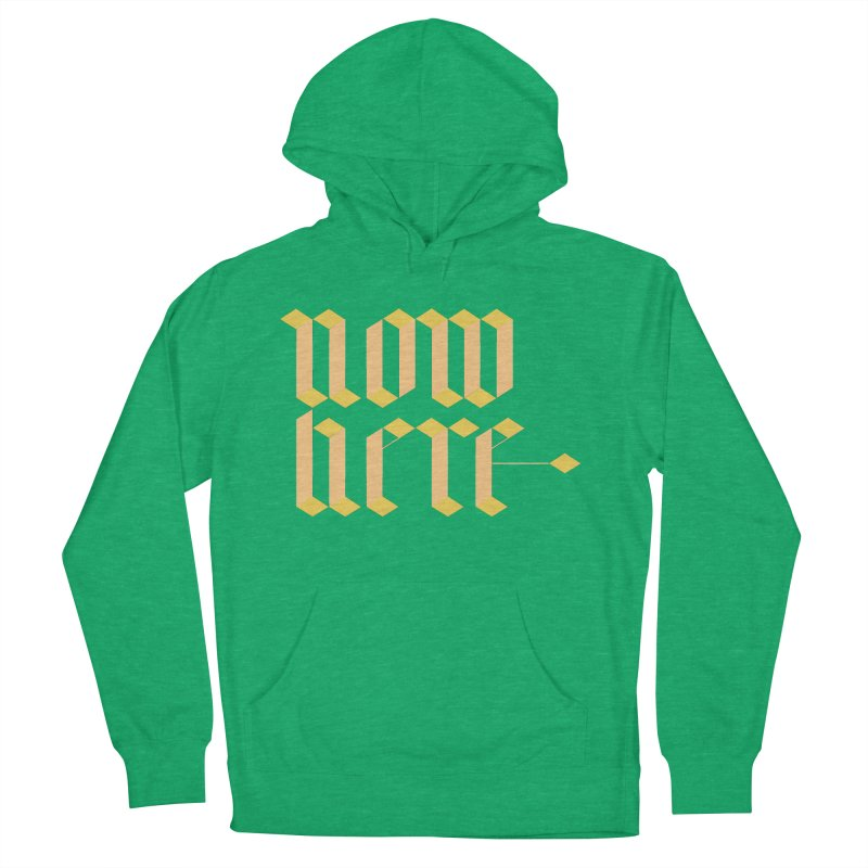 now/here Men's French Terry Pullover Hoody by grzechotnick's Artist Shop