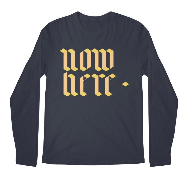 now/here Men's Regular Longsleeve T-Shirt by grzechotnick's Artist Shop