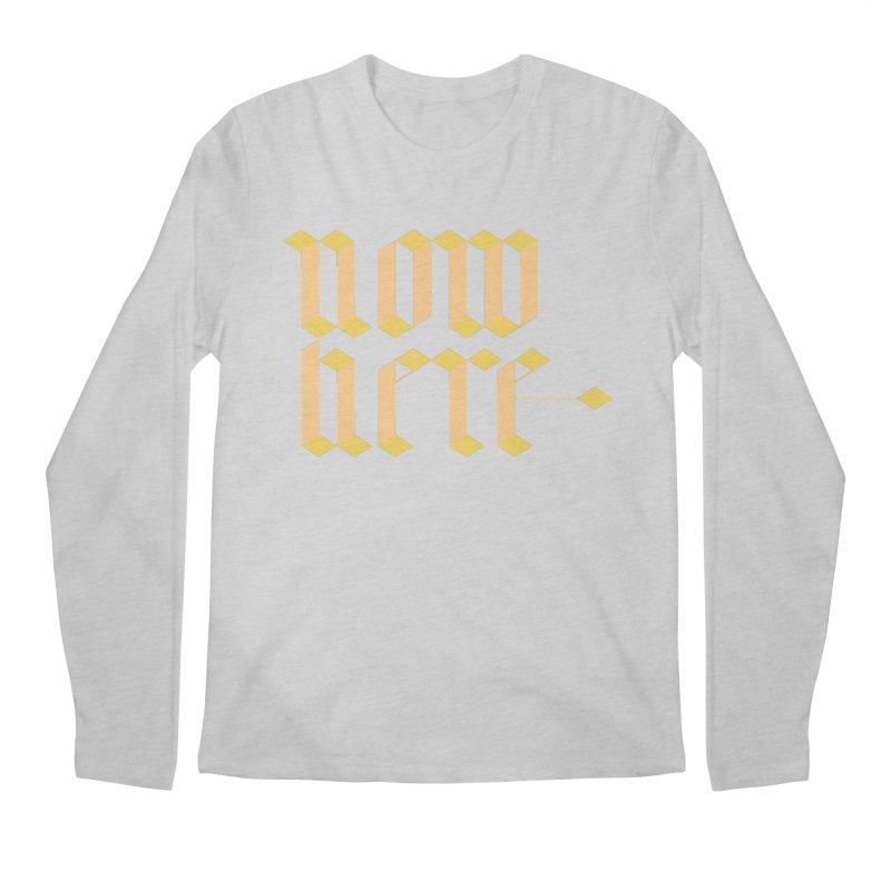 now/here Men's Longsleeve T-Shirt by grzechotnick's Artist Shop